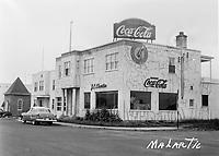 enseignes coca-cola, a Malartic, date inconnue