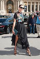 Septembre 30 2017, PARIS FRANCE<br /> the Elie Saab Show at the Paris Fashion Week Spring Summer 2017/2018. Spanish Speaker Nieves Alvarez arrives at the show. # LES PEOPLE ARRIVENT AU DEFILE ELIE SAAB LORS DE LA FASHION WEEK DE PARIS
