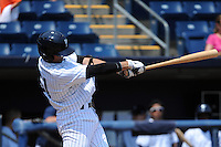 Staten Island Yankees infielder Fu-Lin Kuo (61) during game against the Aberdeen Ironbirds at Richmond County Bank Ballpark at St.George on July 18, 2012 in Staten Island, NY.  Staten Island defeated Aberdeen 3-2.  Tomasso DeRosa/Four Seam Images