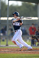 UW-Stout Blue Devils Kasey Kruse (3) during the first game of a doubleheader against the Edgewood Eagles on March 16, 2015 at Lee County Player Development Complex in Fort Myers, Florida.  UW-Stout defeated Edgewood 6-1.  (Mike Janes/Four Seam Images)