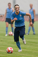 Kate Markgraf. The USWNT practiced at Beijing Normal University in Beijing, China.  The team will now move to Qinhuangdao to prepare for their first two group games of the 2008 Olympics.