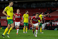 Middlesbrough's Marcus Tavernier reacts to scoring from the penalty spot before the goal was ruled out<br /> <br /> Photographer Alex Dodd/CameraSport<br /> <br /> The EFL Sky Bet Championship - Middlesbrough v Norwich City - Saturday 21st November 2020 - Riverside Stadium - Middlesbrough<br /> <br /> World Copyright © 2020 CameraSport. All rights reserved. 43 Linden Ave. Countesthorpe. Leicester. England. LE8 5PG - Tel: +44 (0) 116 277 4147 - admin@camerasport.com - www.camerasport.com