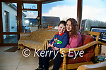 Christopher Curran with his mom Lisa at their home in Tonavane.