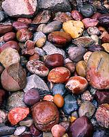 Rocks on the shore of Jenny Lake; Grand Teton National Park, WY