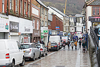 Pictured: Taff Street in Pontypridd. Wednesday 04 March 2020<br /> Re: Revisiting the flood affected areas in Pontypridd, Wales, UK.