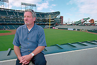 SAN FRANCISCO, CA - General Manager Brian Sabean of the San Francisco Giants poses for a portrait before a game at Pacific Bell Park in San Francisco, California in 2001. Photo by Brad Mangin