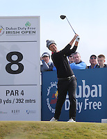 Saturday 30th May 2015; Mark Foster, England, on the 8th tee<br /> <br /> Dubai Duty Free Irish Open Golf Championship 2015, Round 3 County Down Golf Club, Co. Down. Picture credit: John Dickson / SPORTSFILE