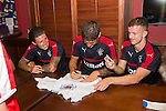 Josh Windass, Rob Kiernan and Andy Halliday signing autographs for fans