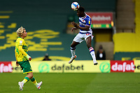 1st May 2021; Carrow Road, Norwich, Norfolk, England, English Football League Championship Football, Norwich versus Reading; Andy Yiadom of Reading heads the ball forward