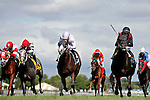 ARLINGTON HEIGHTS, IL - AUGUST 13: Beach Patrol #9, ridden by Florent Geroux, wins the Secretariat Stakes at Arlington International Racecourse on August 13, 2016 in Arlington Heights, Illinois. (Photo by Jon Durr/Eclipse Sportswire/Getty Images)