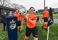 refereen Irmgard Van Meirvenne pictured during a female soccer game between Club Brugge Dames YLA and Eendracht Aalst Ladies on the 9 th matchday of the 2020 - 2021 season of Belgian Scooore Womens Super League , saturday 12 December 2020  in Brugge , Belgium . PHOTO SPORTPIX.BE | SPP | DAVID CATRY