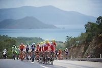 Team Cofidis sets the pace in the peloton, protecting the  overall lead of teammate Rein Taaramäe (EST/Cofidis) <br /> <br /> Tour of Turkey 2014<br /> stage 4