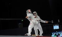 European Championships Fencing 2010 / Fecht Europameisterschaft 2010 in Leipzig - Competition Championat d'europe - im Bild: the new european champion Svetlana KORMILITSYNA (RUS, in front) against Sophia VELIKAIA (RUS) during the final women sabre. Foto: Norman Rembarz..Norman Rembarz , Autorennummer 41043728 , Augustenstr. 2, 04317 Leipzig, Tel.: 01794887569, Hypovereinsbank: BLZ: 86020086, KN: 357889472, St.Nr.: 231/261/06432 - Jegliche kommerzielle Nutzung ist honorar- und mehrwertsteuerpflichtig! Persönlichkeitsrechte sind zu wahren. Es wird keine Haftung übernommen bei Verletzung von Rechten Dritter. Autoren-Nennung gem. §13 UrhGes. wird verlangt. Weitergabe an Dritte nur nach  vorheriger Absprache..