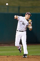 Eric Cheray (14) of the Missouri State Bears throws to first base during a game against the Purdue Boilermakers at Hammons Field on March 13, 2012 in Springfield, Missouri. (David Welker / Four Seam Images)