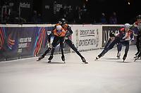 SPEEDSKATING: DORDRECHT: 06-03-2021, ISU World Short Track Speedskating Championships, SF 5000m Relay, Daan Breeuwsma (NED), Sjinkie Knegt (NED), ©photo Martin de Jong