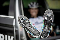 """""""Go faster. Eat Pasta""""<br /> Esteban Chaves (COL/BikeExchange) relaxing after the morning recon<br /> <br /> Stage 5 (ITT): Time Trial from Changé to Laval Espace Mayenne (27.2km)<br /> 108th Tour de France 2021 (2.UWT)<br /> <br /> ©kramon"""