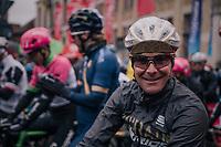waterproof helmet<br /> <br /> 73rd Dwars Door Vlaanderen 2018 (1.UWT)<br /> Roeselare - Waregem (BEL): 180km