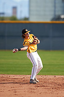 Alex Merchant (7) of Liberty High School in Brentwood, California during the Baseball Factory All-America Pre-Season Tournament, powered by Under Armour, on January 14, 2018 at Sloan Park Complex in Mesa, Arizona.  (Zachary Lucy/Four Seam Images)