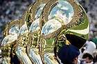 Sept. 19, 2015; The Notre Dame Marching Band performs in the pregame ceremony before the football game against Georgia Tech. (Photo by Matt Cashore)