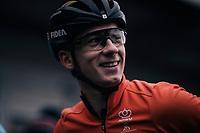 Lars van der Haar (NED/Telenet Fidea Lions) relaxed at the start<br /> <br /> Elite Men's Race<br /> UCI CX Worlds 2018<br /> Valkenburg - The Netherlands