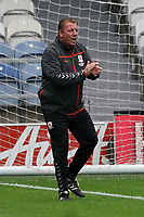Middlesbrough's Ronnie Jepson takes the team through their warm up<br /> <br /> Photographer Stephanie Meek/CameraSport<br /> <br /> The EFL Sky Bet Championship - Queens Park Rangers v Middlesbrough - Saturday 26th September 2020 - Loftus Road - London <br /> <br /> World Copyright © 2020 CameraSport. All rights reserved. 43 Linden Ave. Countesthorpe. Leicester. England. LE8 5PG - Tel: +44 (0) 116 277 4147 - admin@camerasport.com - www.camerasport.com