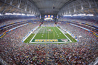 January 01, 2014:<br /> <br /> View of University of Phoenix Stadium during Fiesta Bowl in Scottsdale, AZ. UCF defeat Baylor 52-42 to claim it's first ever BCS Bowl trophy.