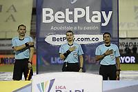RIONEGRO - COLOMBIA, 26-11-2020: Águilas Doradas Rionegro y Envigado durante partido de la fecha 1 por la Liguilla BetPlay DIMAYOR 2020 jugado en el estadio Alberto Grisales de Rionegro. / Aguilas Doradas Rionegro and Envigado during a match of the 1st date for the BetPlay DIMAYOR Liguilla 2020 played at the Alberto Grisales Stadium in Rionegro. / Photos: VizzorImage / Juan Augusto Cardona / Contribuidor