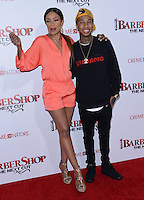 Tyga + Wendy Raquel Robinson @ the premiere of 'Barber Shop The Next Cut' held @ the Chinese theatre.<br /> April 6, 2016