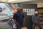 Current Houston Texans defensive tackle Vince Wilfork talks to the Worthing HS football team in honor of Black History Month.