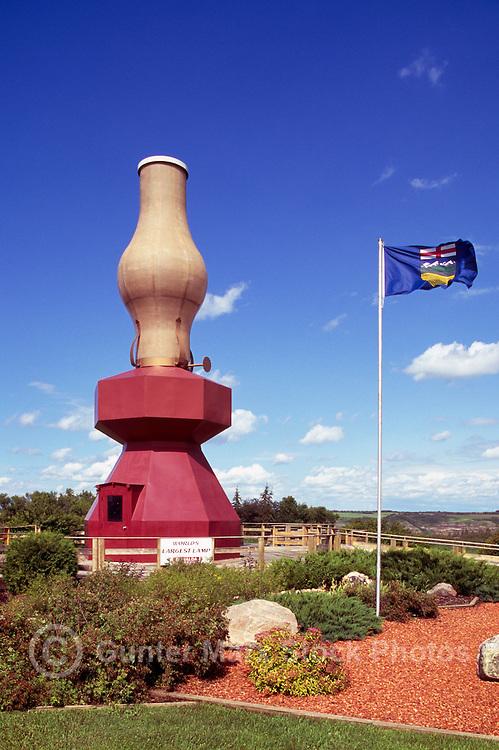 World's Largest Lamp, Donalda, AB, Alberta, Canada - Tourist Attraction
