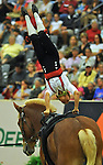 7 October 2010: Lisa Vermbo (NOR) competes during Vaulting in the World Equestrian Games in Lexington, Kentucky