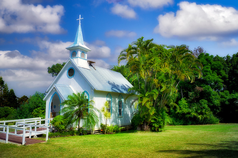 Church on The Big Island, Hawaii