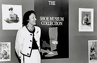1992 FILE PHOTO - ARCHIVES -<br /> <br /> Sonja Bata: Her shoe museum collection has about 400 items spanning 4,000 years.<br /> <br /> 1992<br /> <br /> PHOTO :  Erin Comb - Toronto Star Archives - AQP
