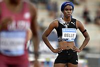 Tia-Adana Belle of Barbados prepares to compete in the 200m Women during the Wanda  Diamond League Golden Gala meeting at the Luigi Ridolfi stadium in Florence, Italy, June 10th, 2021. Photo Andrea Staccioli / Insidefoto