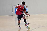 Astor Perez Baldoni of Selwyn College during the Futsal NZ Secondary Schools Junior Boys Final between Hamilton Boys High School and Selwyn College at ASB Sports Centre, Wellington on 26 March 2021.<br /> Copyright photo: Masanori Udagawa /  www.photosport.nz
