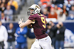 Minnesota Golden Gophers quarterback Philip Nelson (9) in action during the Texas Bowl game between the Syracuse Orange and the Minnesota Golden Gophers at the Reliant Stadium in Houston, Texas. Syracuse leads Minnesota 7 to 3 at halftime.