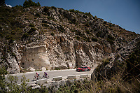 race leaders Sander Armée (BEL/Lotto-Soudal) & Ángel Madrazo (ESP/Burgos-BH) up the first catagorised climb of the day<br /> <br /> Stage 2: Benidorm to Calpe (199.6km)<br /> La Vuelta 2019<br /> <br /> ©kramon