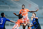 Jeju United Forward Frederic Mendy (C) in action during the AFC Champions League 2017 Group H match Between Jeju United FC (KOR) vs Gamba Osaka (JPN) at the Jeju World Cup Stadium on 09 May 2017 in Jeju, South Korea. Photo by Marcio Rodrigo Machado / Power Sport Images