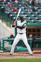 Fort Wayne TinCaps left fielder Rod Boykin (1) during the first game of a doubleheader against the Great Lakes Loons on May 11, 2016 at Parkview Field in Fort Wayne, Indiana.  Great Lakes defeated Fort Wayne 3-0.  (Mike Janes/Four Seam Images)