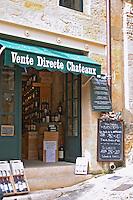 chalk board wine shop saint emilion bordeaux france