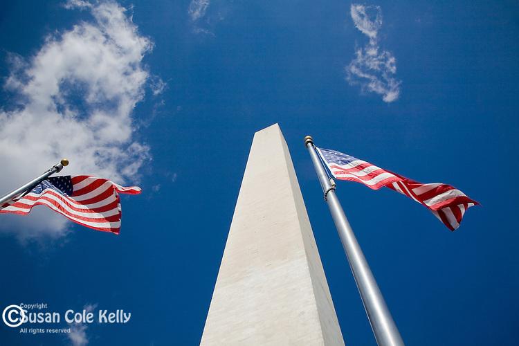 Looking up at the Washington Monument, Washington, DC, USA