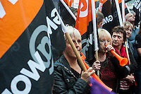 TUC National 'Britain Needs A Pay Rise' protest 18-10-14