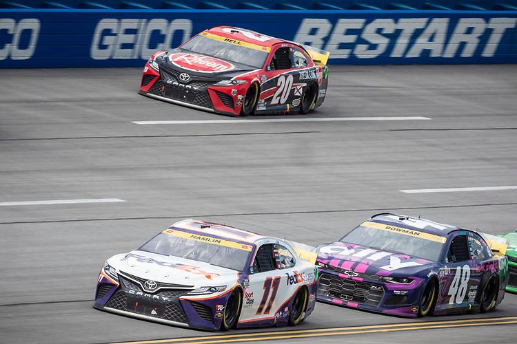 #11: Denny Hamlin, Joe Gibbs Racing, Toyota Camry FedEx Express, #20: Christopher Bell, Joe Gibbs Racing, Toyota Camry Rheem