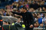 Atletico de Madrid's coach Diego Pablo Simeone during quarterfinal first leg Champions League soccer match at Vicente Calderon stadium in Madrid, Spain. April 14, 2015. (ALTERPHOTOS/Victor Blanco)