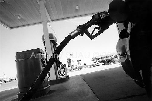 Blackwells Corner, California.USA.March 17, 2003..Over $2 a gallon gas prices.