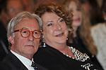 VITTORIO FELTRI CON DIANA BRACCO<br /> PREMIO GUIDO CARLI - TERZA  EDIZIONE<br /> PALAZZO DI MONTECITORIO - SALA DELLA LUPA<br /> CON RICEVIMENTO  HOTEL MAJESTIC   ROMA 2012