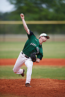 Dartmouth Big Green relief pitcher Patrick Peterson (8) delivers a pitch during a game against the Southern Maine Huskies on March 23, 2017 at Lake Myrtle Park in Auburndale, Florida.  Dartmouth defeated Southern Maine 9-1.  (Mike Janes/Four Seam Images)