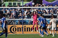 SAN JOSE, CA - AUGUST 8: JT Marcinkowski #1 of the San Jose Earthquakes during a game between Los Angeles FC and San Jose Earthquakes at PayPal Park on August 8, 2021 in San Jose, California.