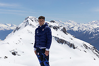 CRANS-MONTANA, SWITZERLAND - MAY 28: Gio Reyna of the United States at Pointe de la Plaine Morte on May 28, 2021 in Crans-Montana, Switzerland.