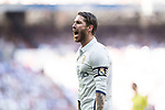 Sergio Ramos of Real Madrid reacts during their La Liga match between Real Madrid and Atletico de Madrid at the Santiago Bernabeu Stadium on 08 April 2017 in Madrid, Spain. Photo by Diego Gonzalez Souto / Power Sport Images